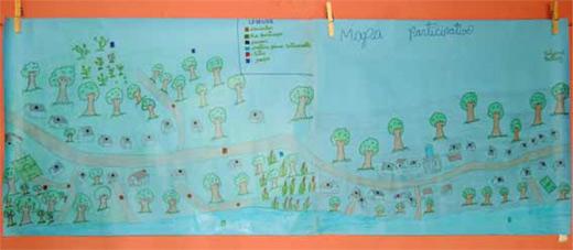 Mapa participativo elaborado por alunos do 4a turma do CAPTA, em Bacabal, MA.